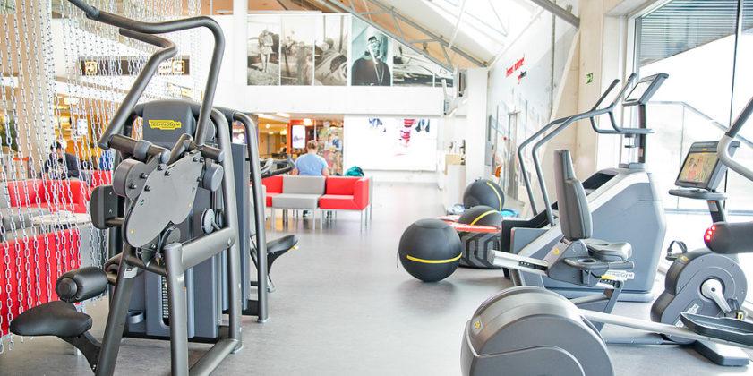 Фитнес-зона в аэропорту Таллина