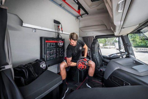 Кабины грузовиков IVECO превращаются в фитнес-залы