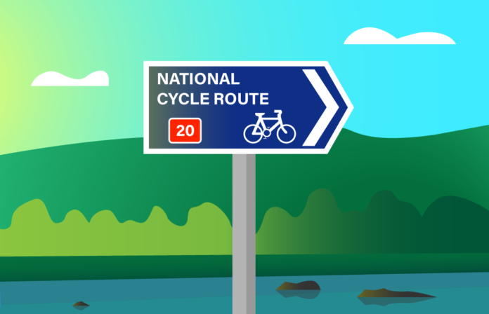 Cycling routes in London