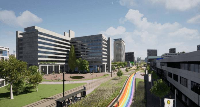 rainbow bike path